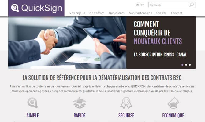 Site web Quicksign